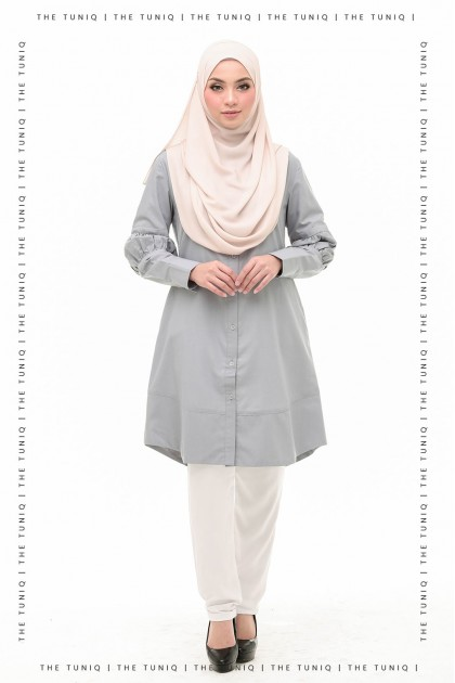 Tunic Aurelia Plain Silver